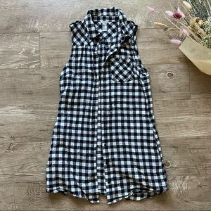 Forever 21 Plaid Button Up Dress size S